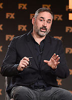 """PASADENA, CA - JANUARY 9: Creator/Executive Producer/Writer/Director Alex Garland attends the panel for """"Devs"""" during the FX Networks presentation at the 2020 TCA Winter Press Tour at the Langham Huntington on January 9, 2020 in Pasadena, California. (Photo by Frank Micelotta/FX Networks/PictureGroup)"""
