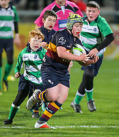 Friday 26th October 2018 | Ulster Rugby vs Dragons<br /> <br /> Halftime Mini-Rugby during the Guinness PRO14 Round 7 clash between Ulster Rugby and the Dragons at Kingspan Stadium, Ravenhill Park, Belfast, Northern Ireland. Photo by John Dickson / DICKSONDIGITAL