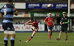Outside half JJ Hanrahan increases Munsters lead with a third penalty.<br /> Guiness Pro12<br /> Cardiff Blues v Munster<br /> Cardiff Arms Park<br /> 01.11.14<br /> ©Steve Pope-SPORTINGWALES