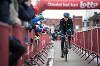 European Champion Matteo Trentin (ITA/Mitchelton Scott) pre race <br /> <br /> 71st Kuurne-Brussel-Kuurne (2019)<br /> Kuurne > Kuurne 201km (BEL)<br /> <br /> ©kramon