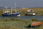 Swanscombe Peninsula North Kent Borough of Dartford UK. 1990s. Broadness Creek.