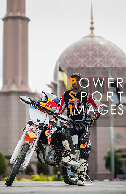 """Red Bull KTM team rider Mohammed Balooshi of UAE poses for portrait in Putrajaya ahead the Red Bull """"Under my Wing"""" Malaysia 2012, on July 08, 2012. Photo by Victor Fraile / The Power of Sport Images"""