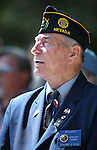 Mitch Roach listens to the 2016 Flag Day & Army Birthday ceremony at the Capitol in Carson City, Nev., on Tuesday, June 14, 2016.<br />Photo by Cathleen Allison
