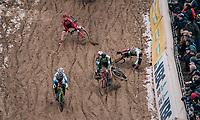 "crashing into the infamous ""Pit""...<br /> <br /> Women's race<br /> Superprestige Zonhoven (BEL) 2018"