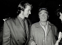 1987 FILE PHOTO - ARCHIVES -<br /> <br /> The Orphans party was the place to be Friday night; with Albert Finney chatting to lanky co-star Matthew Modine L)<br /> <br /> 1987<br /> <br /> PHOTO :  Erin Comb - Toronto Star Archives - AQP