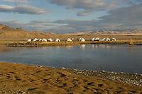Yurt camp.