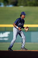 AZL Padres 1 shortstop CJ Abrams (8) during an Arizona League game against the AZL Cubs 1 on July 5, 2019 at Sloan Park in Mesa, Arizona. The AZL Cubs 1 defeated the AZL Padres 1 9-3. (Zachary Lucy/Four Seam Images)