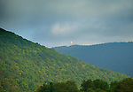 Gas well flare, Trout Run, Pennsylvania