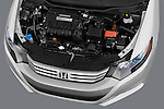 High angle engine detail of a 2010 Honda Insight  .