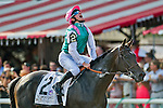 August 29, 2015 : Flintshire, ridden by Vincent Cheminaud, wins the Sword Dancer Stakes on Travers Stakes Day in Saratoga Springs, NY. Scott Serio/ESW/CSM