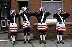 Britannia Coconut Dancers. Bacup Coconut Dancers Bacup Lancashire UK 1970s 1974