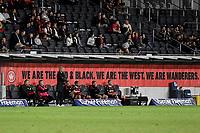 16th April 2021; Bankwest Stadium, Parramatta, New South Wales, Australia; A League Football, Western Sydney Wanderers versus Brisbane Roar; Carl Robinson coach of Western Sydney Wanderers watches the action