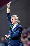 Coach Jorge Jesus of Sporting CP gestures during the UEFA Europa League quarter final leg one match between Atletico Madrid and Sporting CP at Wanda Metropolitano on April 5, 2018 in Madrid, Spain. Photo by Diego Souto / Power Sport Images