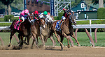 SARATOGA SPRINGS, NY - AUGUST 25: Whitmore  #3, ridden by jockey Ricardo Santana, Jr., wins the Forego Stakes on Travers Stakes Day at Saratoga Race Course on August 25, 2018 in Saratoga Springs, New York. (Photo by Rob Simmons/Eclipse Sportswire/Getty Images)