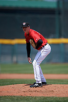 Erie SeaWolves pitcher Nolan Blackwood (36) during an Eastern League game against the Akron RubberDucks on June 2, 2019 at UPMC Park in Erie, Pennsylvania.  Akron defeated Erie 7-2 in the first game of a doubleheader.  (Mike Janes/Four Seam Images)