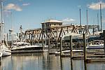 Mystic Harbor swing bridge.
