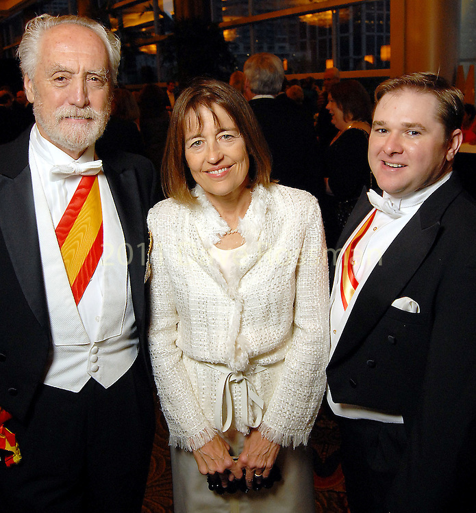 From left: Spanish Consul General Miguel Angel Fernandez de Mazarambroz, Andrea White and Sherman Yeager at the Consular Ball at the Hilton Americas Houston Saturday Oct. 10,2009. (Dave Rossman/For the Chronicle)