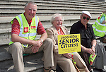Senior Citizens Protest about the Proposed Bus Route Cuts