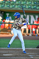 Cody Thomas (46) of the Ogden Raptors at bat against the Orem Owlz in Pioneer League action at Lindquist Field on July 29, 2016 in Ogden, Utah. Orem defeated Ogden 8-5. (Stephen Smith/Four Seam Images)