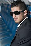 Getafe's Juan Albin during sunglasses fashion shoot. October 07, 2010. (ALTERPHOTOS/Alvaro Hernandez)