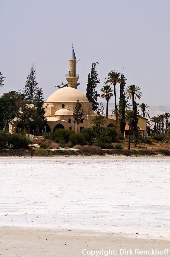 Zypern (Süd), Moschee Hala Sultan Tekke am Salz-See bei Larnaka