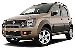 Low aggressive front three quarter view of a 2009 Fiat Panda 5 Door 4x4.
