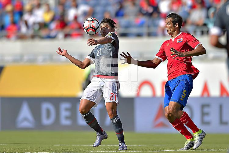 Action photo during the match Costa Rica vs Paraguay, Corresponding Group -A- America Cup Centenary 2016, at Citrus Bowl Stadium<br /> <br /> Foto de accion durante el partido Estados Unidos vs Colombia, Correspondiante al Grupo -A-  de la Copa America Centenario USA 2016 en el Estadio Citrus Bowl, en la foto: (i-d) Oscar Romero de Paraguay y Celso Borges de Costa Rica<br /> <br /> <br /> <br /> 04/06/2016/MEXSPORT/Isaac Ortiz.