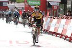 Primoz Roglic (SLO) Jumbo-Visma wins Stage 11 of La Vuelta d'Espana 2021, running 133.6km from Antequera to Valdepeñas de Jaén, Spain. 25th August 2021.     <br /> Picture: Luis Angel Gomez/Photogomezsport | Cyclefile<br /> <br /> All photos usage must carry mandatory copyright credit (© Cyclefile | Luis Angel Gomez/Photogomezsport)
