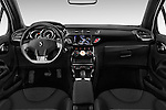 Stock photo of straight dashboard view of 2016 Ds DS-3 Sport-Chic 2 Door Convertible Dashboard