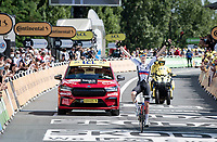 Matej Mohoric (SVK/Bahrain-Victorius) wins his 2nd stage in this Tour.<br /> <br /> Stage 19 from Mourenx to Libourne (207km)<br /> 108th Tour de France 2021 (2.UWT)<br /> <br /> ©kramon