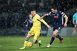 Ross County v St Johnstone…27.12.17…  Global Energy Stadium…  SPFL<br />Michael O'Halloran and Chris Routis<br />Picture by Graeme Hart. <br />Copyright Perthshire Picture Agency<br />Tel: 01738 623350  Mobile: 07990 594431