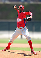 March 30, 2010:  Pitcher Juan Sosa of the Philadelphia Phillies organization during Spring Training at Carpenter Complex in Clearwater, FL.  Photo By Mike Janes/Four Seam Images