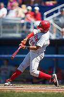 Auburn Doubledays right fielder Juan Soto (26) at bat during a game against the Batavia Muckdogs on September 5, 2016 at Dwyer Stadium in Batavia, New York.  Batavia defeated Auburn 4-3. (Mike Janes/Four Seam Images)