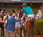 February 27, 2021:  Greatest Honor #8, ridden by Jose L. Ortiz , gets up to win the Fasig-Tipton Fountain of Youth Stakes (Grade 2) on Fountain of Youth Day at Gulfstream Park in Hallandale Beach, Florida. Liz Lamont/Eclipse Sportswire/CSM