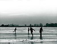 Vereiste Marsch bei Wedel, Schleswig-Holstein, Deutschland 1975
