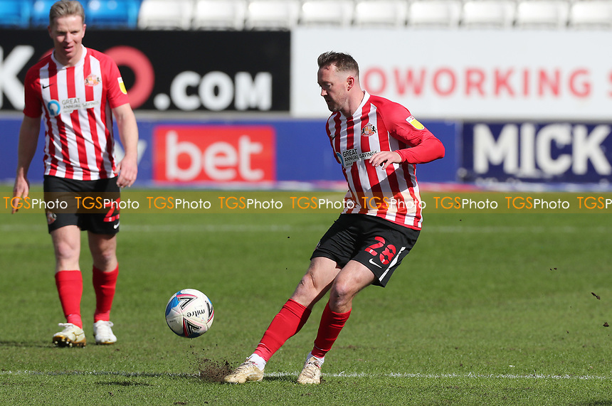 Sunderland's Aiden McGeady during Peterborough United vs Sunderland AFC, Sky Bet EFL League 1 Football at London Road on 5th April 2021