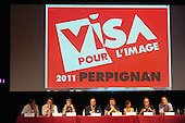 CEPIC panel discussion at the Visa Pour L'Image festival of photojournalism, Perpignan, France.
