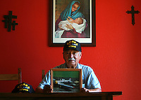 O.Korean.1.0927.jl.jpg/photo Jamie Scott Lytle/ d Veteran Eugen Garcia of Oceanside is heading to Korea to help commemorating the 60th anniversary of the Korean War.