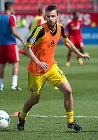 18 May 2013: Columbus Crew midfielder/forward Eddie Gaven #12 warm-ups during an MLS game between the Columbus Crew and Toronto FC at BMO Field in Toronto, Ontario Canada..The Columbus Crew won 1-0...