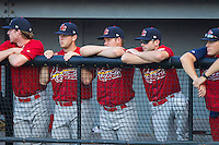 at Burlington Athletic Park on July 14, 2014 in Burlington, North Carolina.  The Cardinals defeated the Royals 9-4.  (Brian Westerholt/Four Seam Images)