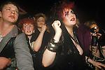 Sigue Sigue Sputnik Punk band fans live concert. 1980s  Newcastle Upon Tyne. UK