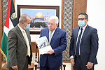 Palestinian president Mahmoud Abbas meets with representatives of human rights and civil society organizations, in the West Bank city of Ramallah on September 7, 2021. Photo by Thaer Ganaim