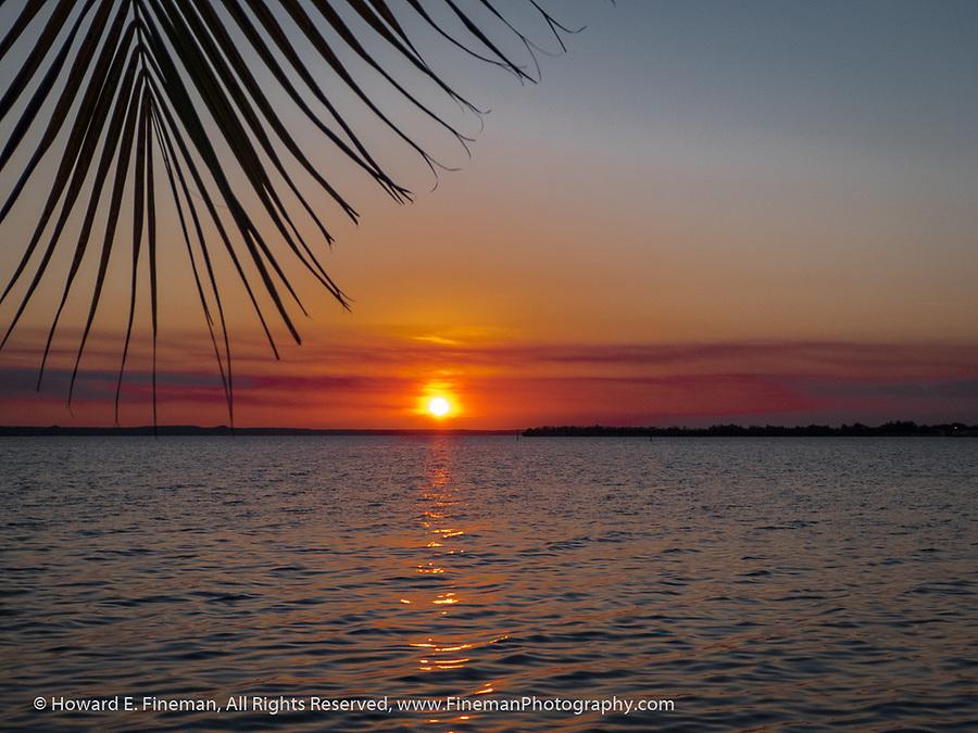 Sunset over Cienfuegos harbor