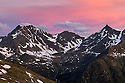 Mountain ridge at dawn, Nordtirol, Austrian Alps, June.