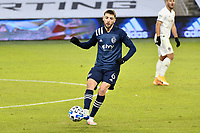 KANSAS CITY, KS - OCTOBER 24: Ilie Sanchez #6 of Sporting Kansas City with the ball during a game between Colorado Rapids and Sporting Kansas City at Children's Mercy Park on October 24, 2020 in Kansas City, Kansas.