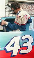Richard Petty climbs into car qualifying Pepsi 400 at Daytona International Speedway in Daytona beach, FL on July 1, 1989. (Photo by Brian Cleary/www.bcpix.com)
