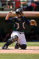 Charlotte Knights catcher Gustavo Molina on defense versus the Indianapolis Indians at Knights Stadium in Fort Mill, SC, Sunday, August 13, 2006.