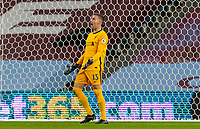 4th October 2020, Villa Park, Birmingham, England;  Liverpools goalkeeper Adrian looks dejected as his team go behind by 7-2 during the English Premier League match between Aston Villa and Liverpool at Villa Park