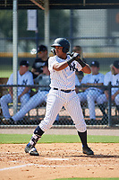 GCL Yankees East designated hitter Christian Andrade (11) at bat during a game against the GCL Blue Jays on August 2, 2018 at Yankee Complex in Tampa, Florida.  GCL Yankees East defeated GCL Blue Jays 5-4.  (Mike Janes/Four Seam Images)