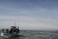 Judge's Boat. Mavericks Surf Contest in Half Moon Bay, California on February 13th, 2010.